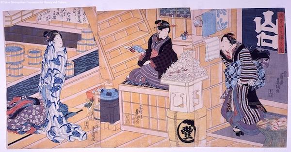 江戸時代のお風呂、正月の初湯