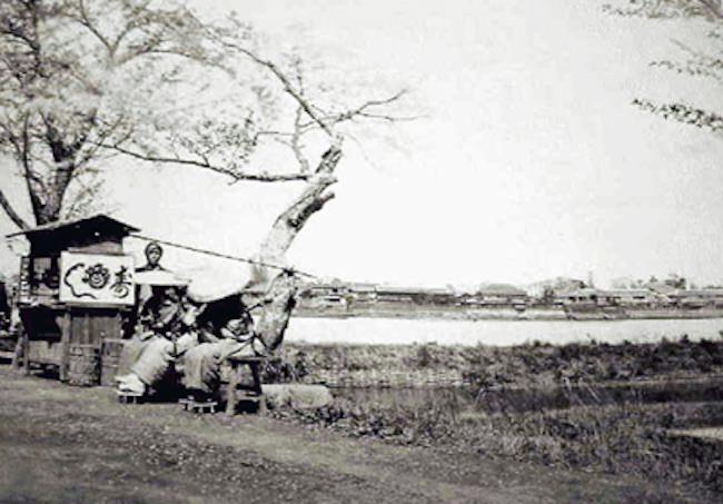 江戸時代後期の屋台の寿司屋