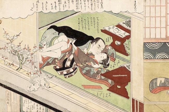 春画『風流艶色真似ゑもん』(鈴木春信 画)
