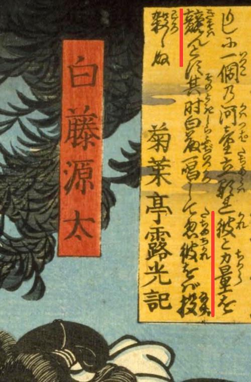 白藤源太と河童(『和漢百物語』の解説文)