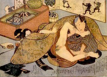 歌川国芳の艶本『葉古与見(はなごよみ)』の拡大画像