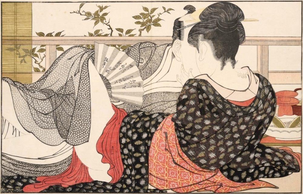 春画の最高傑作『歌満くら』(喜多川歌麿 画)の拡大画像