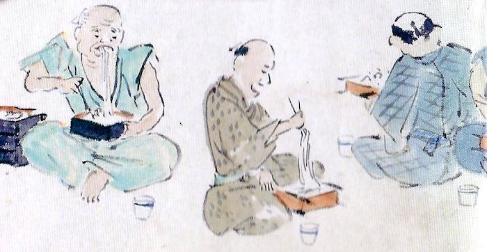 江戸時代の大食い大会の様子(そばの部)2枚目