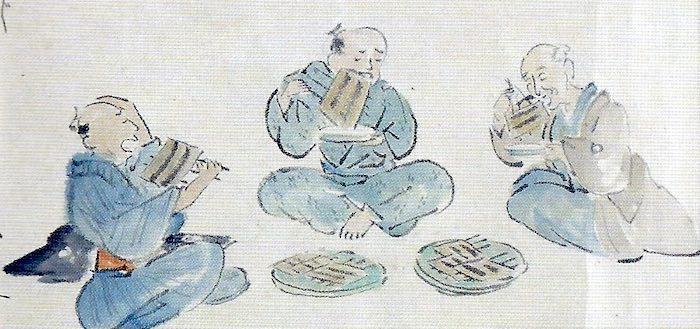 江戸時代の大食い大会の様子(うなぎの部)