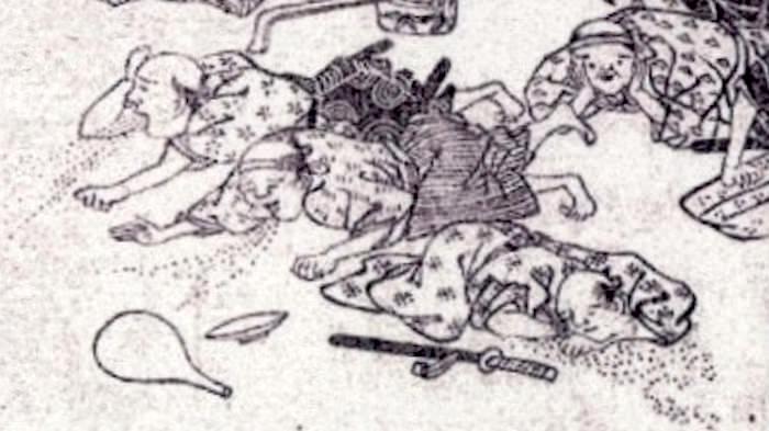 江戸時代の大酒飲み大会で、飲みすぎて吐く人たち