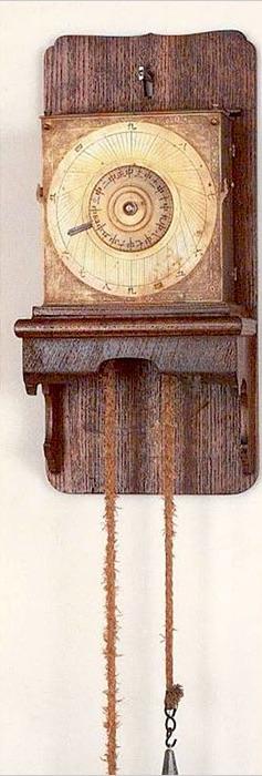 振子円グラフ式文字盤掛時計(江戸時代)の拡大画像