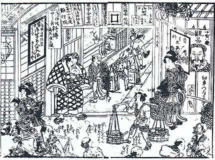 江戸時代の長屋の入り口