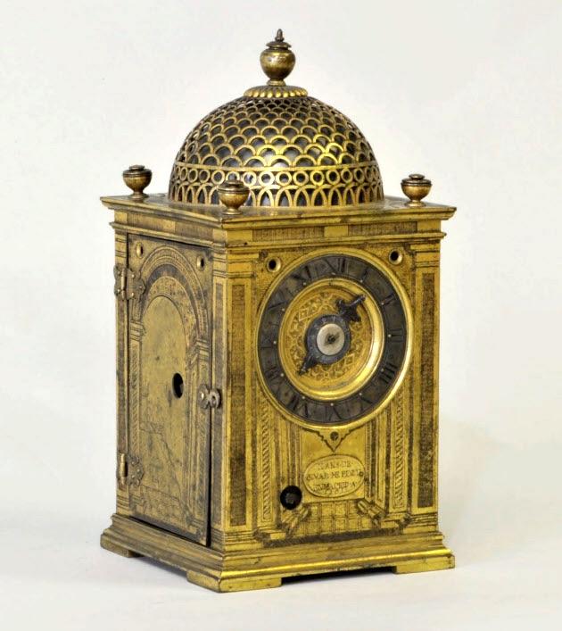 日本最古のゼンマイ式西洋置時計(拡大画像)
