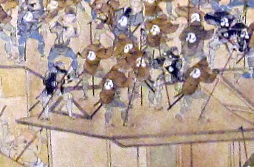 江戸時代における消火活動の様子、道具