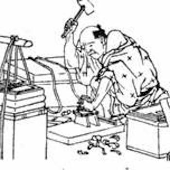 江戸時代の下駄修理職人