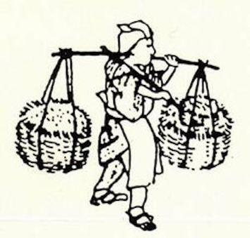 江戸時代の灰買い(拡大画像)