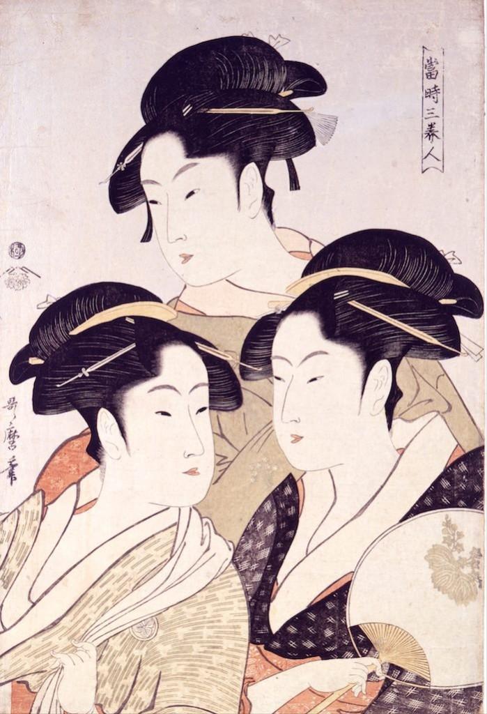 当時三美人(喜多川歌麿 画)の拡大画像