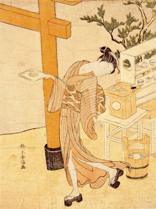 江戸時代のアイドル・笠森お仙(鈴木春信 画)の拡大画像