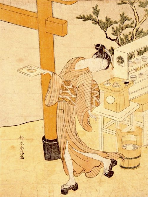 江戸時代のアイドル・笠森お仙(鈴木春信 画)