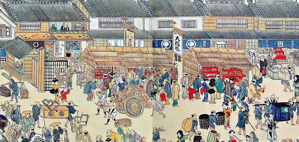江戸時代の日本橋(熈代勝覧)の拡大画像