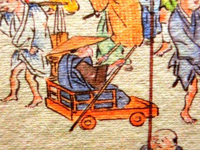 脚気をわずらった江戸時代の人(『熈代勝覧』部分)