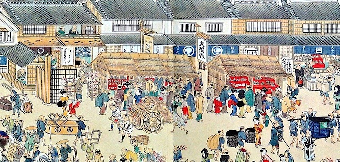 江戸時代の日本橋(熈代勝覧)