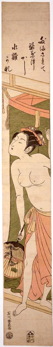 『水鶏にだまされて』石川豊信 画(拡大画像)
