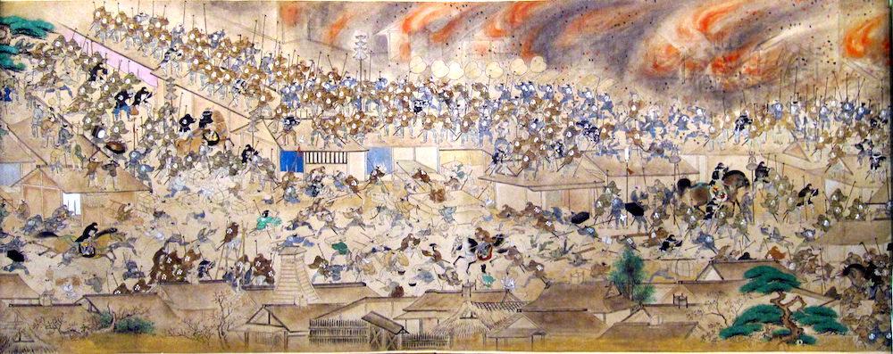 明暦の大火(『江戸火事図巻』より)の拡大画像