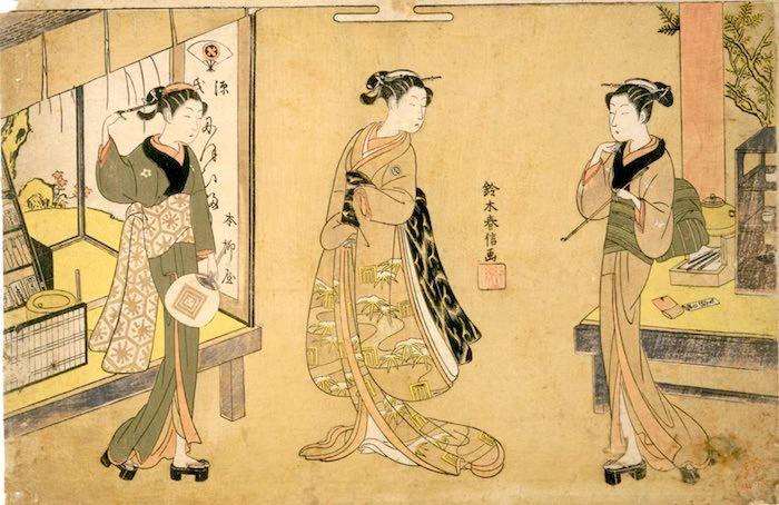 お仙と菊之丞とお藤(鈴木春信 画)