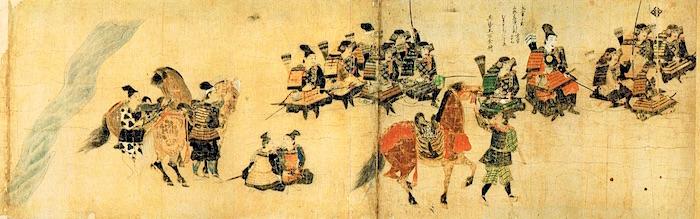『蒙古襲来絵詞』の一部分