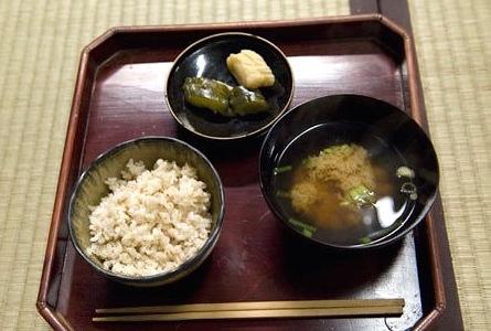 江戸時代の庶民の食事(再現)