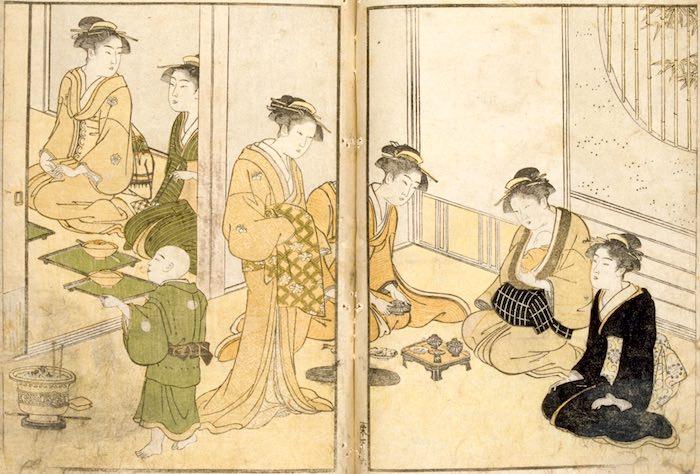 『絵本栄家種』(勝川春潮 画)