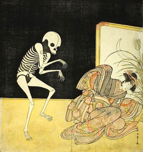 『岩井半四郎と市川団十郎』(勝川春章 画)