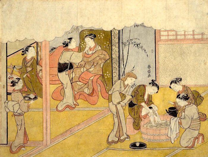 『春信婚姻之図』(鈴木春信 画)
