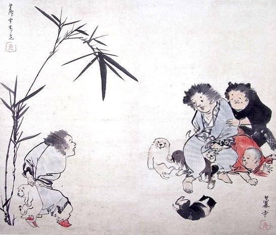 一笑図(長沢芦雪 画)