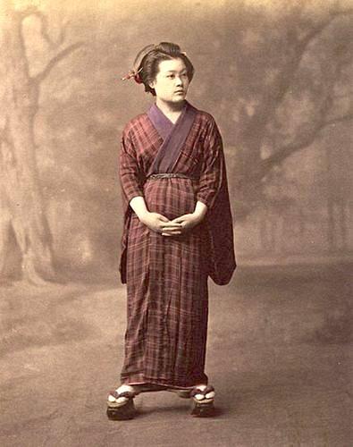 明治初年の妊婦の写真