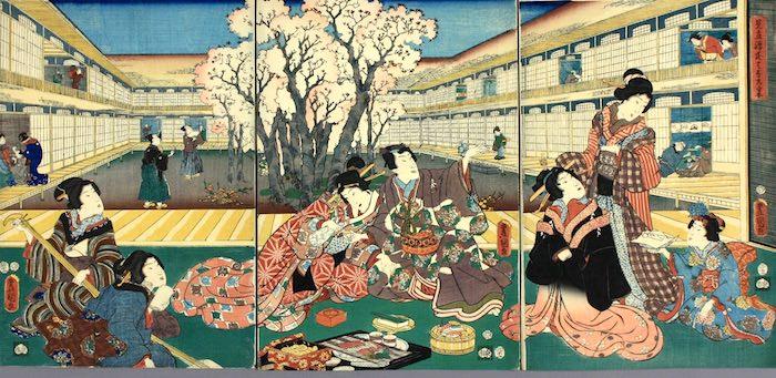 『見立源氏はなの宴』(三代歌川豊国 画)