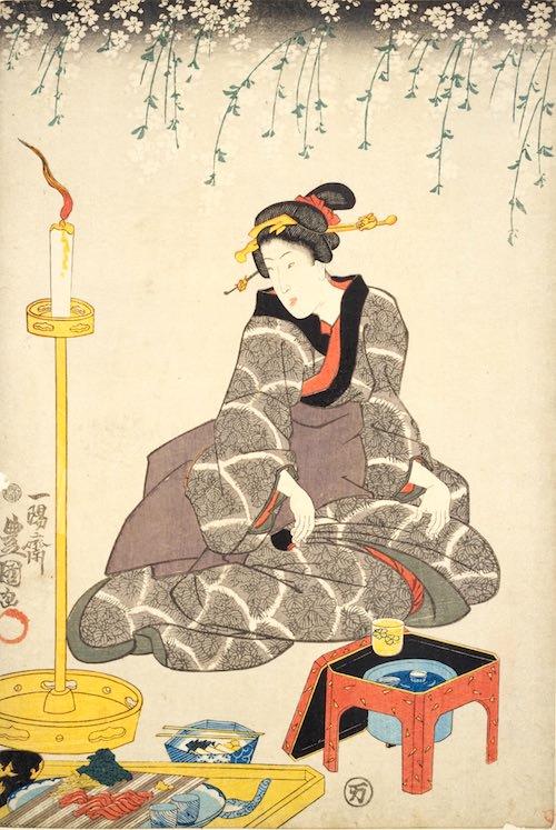 『当世娘評判記』(三代歌川豊国 画)