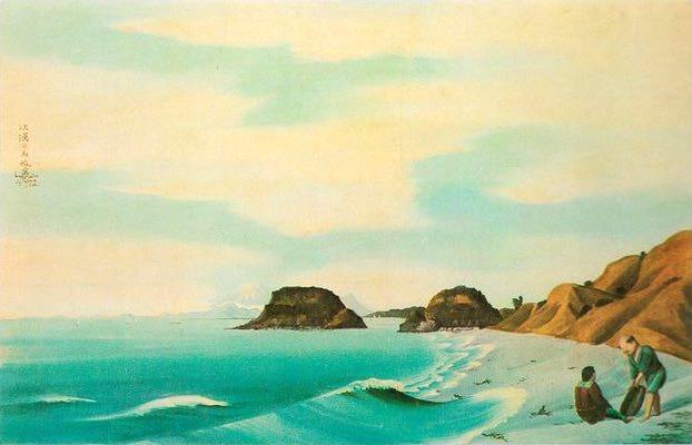 『七里ヶ浜図』(司馬江漢 画)