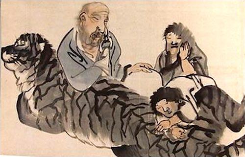 四睡図(長沢芦雪 画)