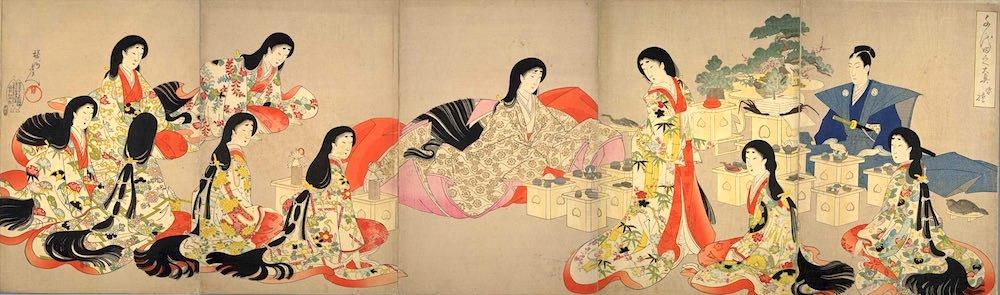 『千代田之大奥』「婚礼」(楊洲周延 画)の拡大画像