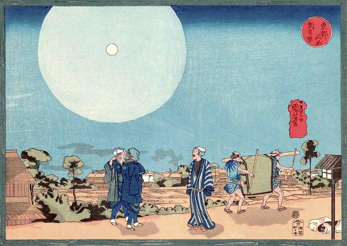 『東都名所』「新吉原」(歌川国芳 画)