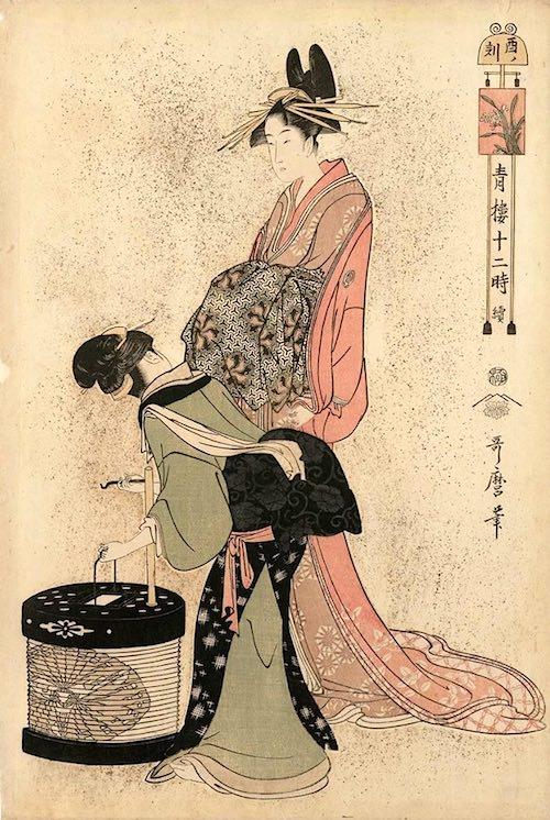 『青楼十二時』「酉ノ刻」(喜多川歌麿 画)