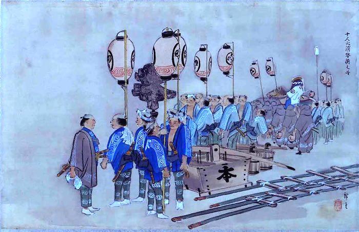 『江戸乃華』部分(歌川広重 画)