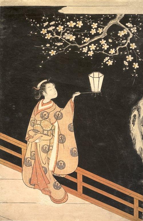 『夜の梅』(鈴木春信 画)