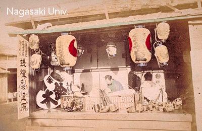 提灯製造所(明治時代中期に撮影)