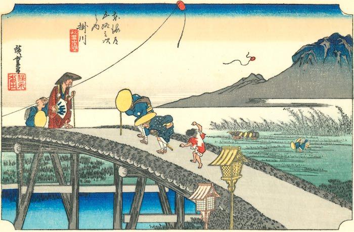 『東海道五十三次』「掛川」(歌川広重 画)