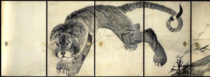 虎図(長沢芦雪 画)