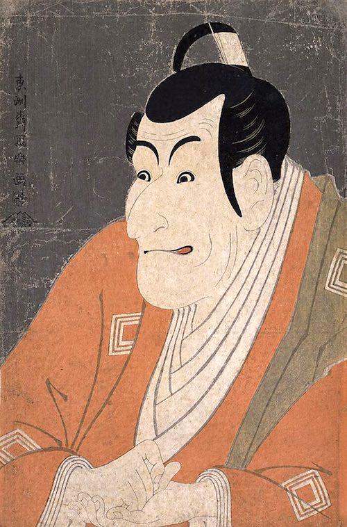 『市川鰕蔵の竹村定之進』(東洲斎写楽 画)