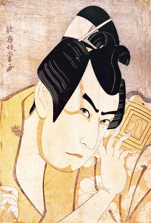 三代目市川八百蔵の梅王丸(歌舞妓堂艶鏡 画)