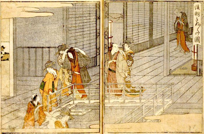 『青楼絵抄年中行事』より/十返舎一九 著・喜多川歌麿 画