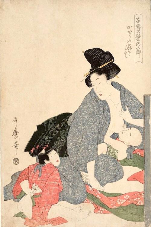 『子宝譬の節 かほうは寝てまて』(喜多川歌麿 画)