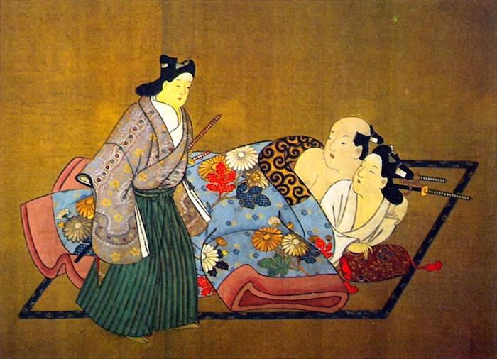 『三侍』(宮川長春 画)