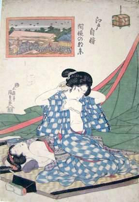 『江戸自慢』「開帳の朝参」(歌川国貞 画)
