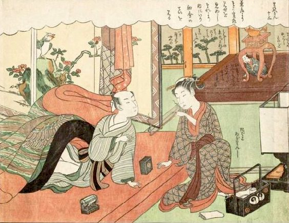 『風流艶色真似ゑもん(ふうりゅう えんしょくまねえもん)』より(鈴木春信 画)